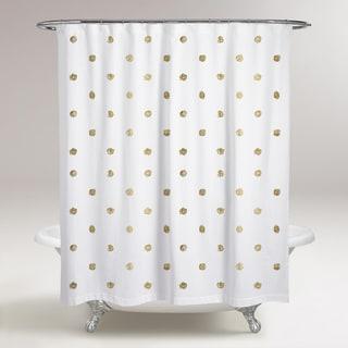 Powder Blue And White Polka Dot Shower Curtain Free