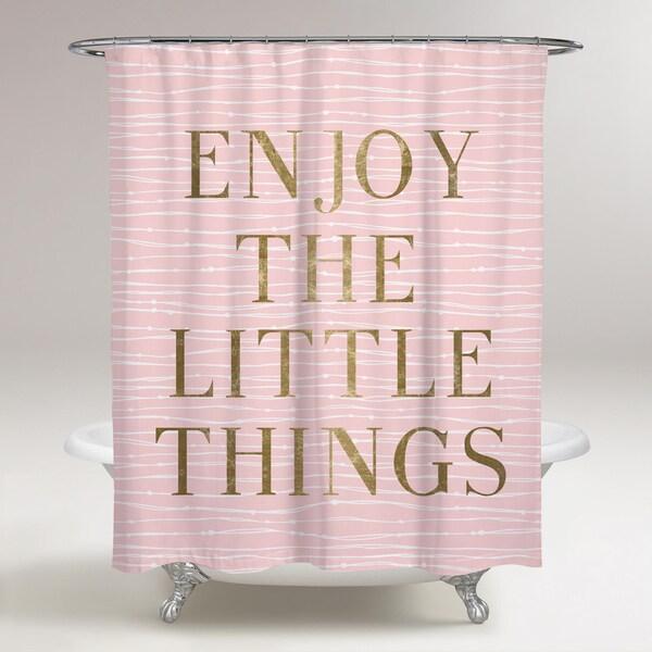 Oliver Gal 'Enjoy Everything' Shower Curtain
