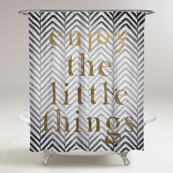 Oliver Gal 'Enjoy The Little Things' Shower Curtain
