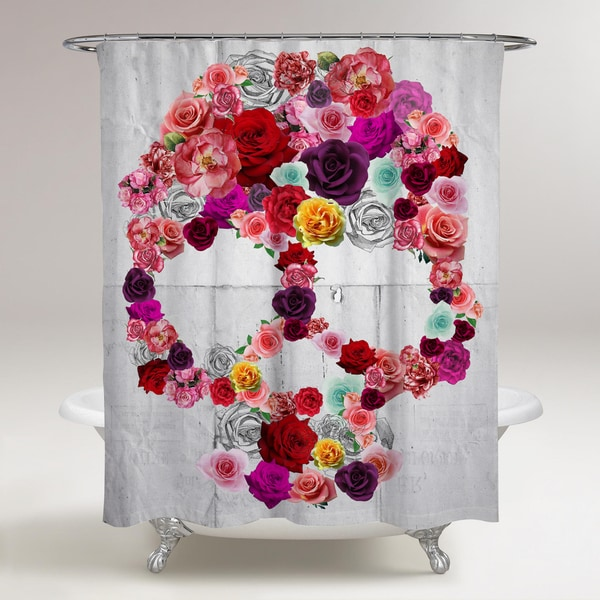 Oliver Gal 'Bed of Roses' Shower Curtain