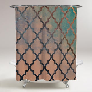 Oliver Gal 'Amour Arabesque ' Shower Curtain
