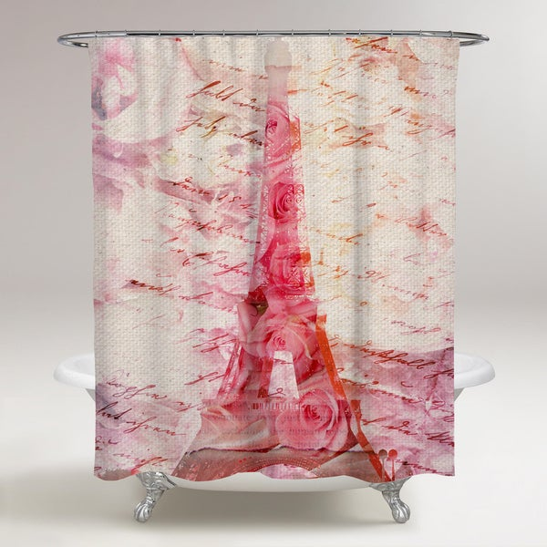 Oliver Gal 'Love Letters' Shower Curtain