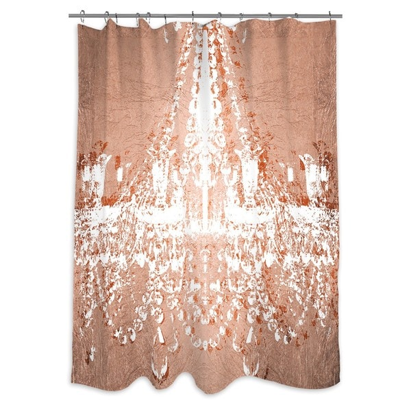 shop oliver gal 39 dramatic entrance rose 39 shower curtain on sale free shipping today. Black Bedroom Furniture Sets. Home Design Ideas