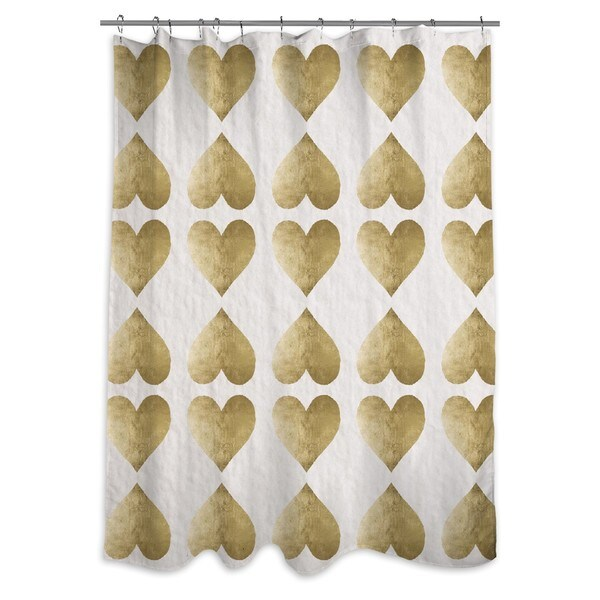 Oliver Gal 'Love Game' Shower Curtain