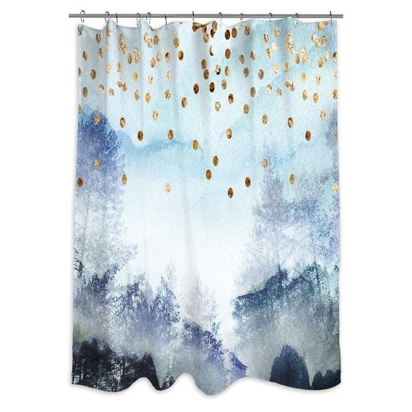 Oliver Gal 'Summer Mist Collage' Shower Curtain