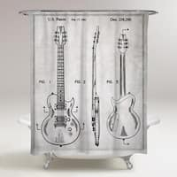 Oliver Gal 'Electric Guitar 1981' Shower Curtain