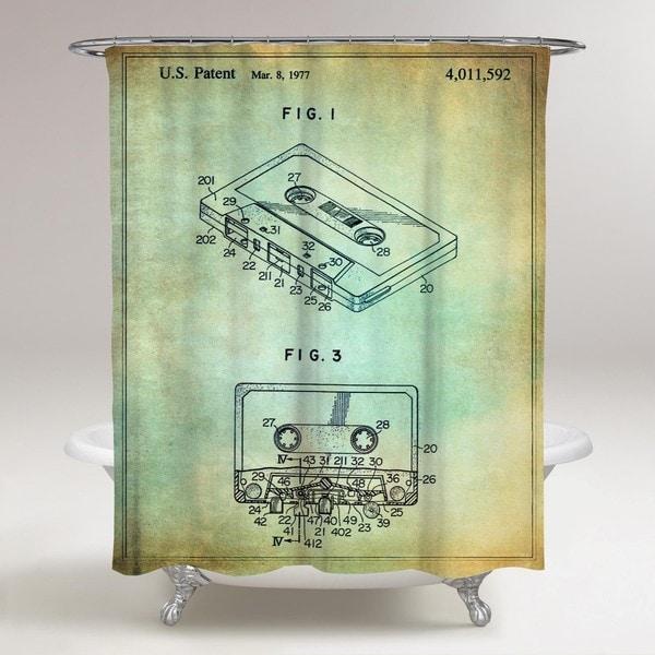 Oliver Gal 'Cassette Tape Recorder, 1977' Shower Curtain