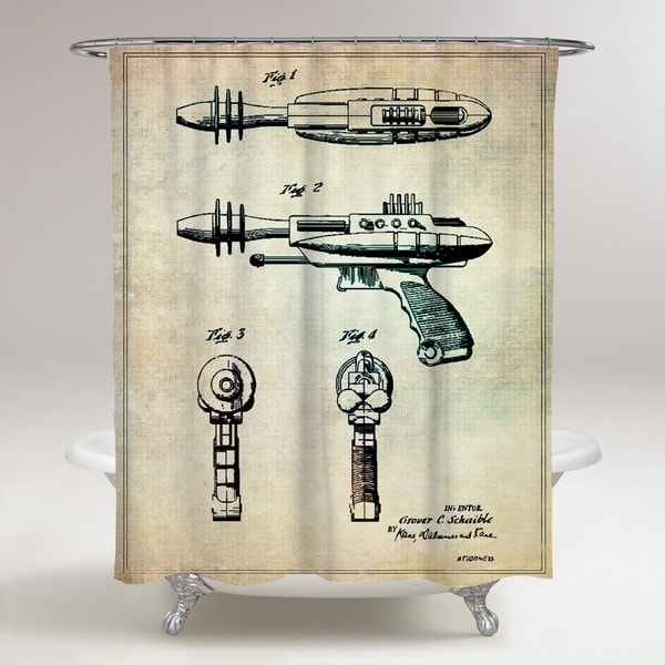 Oliver Gal 'Pyrotomic Disintegrator Gun, 1963' Shower Curtain