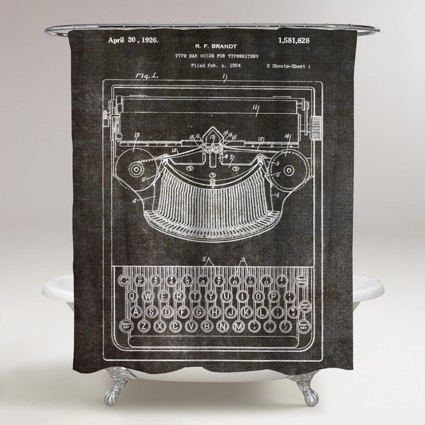 Oliver Gal 'Brandt, Type Bak Guide For Typewriters, 1926' Shower Curtain
