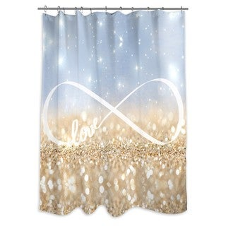 Oliver Gal 'Infinite Love Sign' Shower Curtain