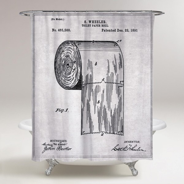Oliver Gal 'Toilet-paper roll 1891' Shower Curtain