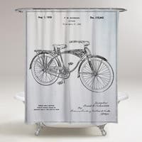 Oliver Gal 'Schwinn Bicycle' Shower Curtain