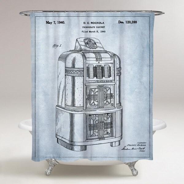 Oliver Gal 'Rockola Jukebox 1940' Shower Curtain