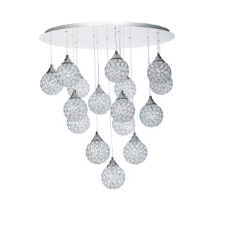 Finesse Lighting Sparling 16-pendant Crystal Dome Flush-mount Fixture