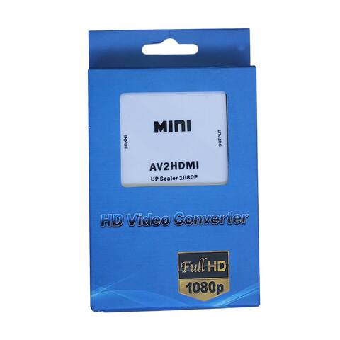 Composite AV CVBS 3RCA to HDMI Video Converter Adapter 720p 1080p Full HD