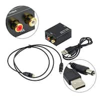 Digital Optical to Analog Signal Audio Converter Adapter RCA