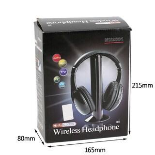 Wireless 5 in 1 HiFi Over the Ear Headphone (Black)