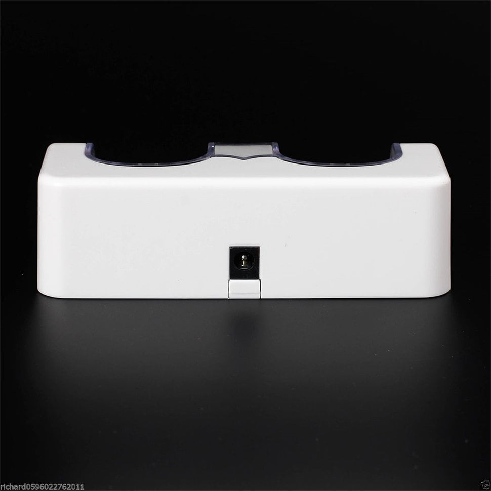Dual Charger Station 2x 2800mAh for Wii Remote Control (B...