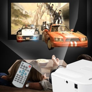 Portable Mini LED Projector (White)