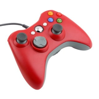 USB Wired Game Controller For Microsoft Xbox & Slim 360 PC Windows 7 (Red)