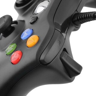 USB Wired Game Controller For Microsoft Xbox & Slim 360 PC Windows 7 (Black)