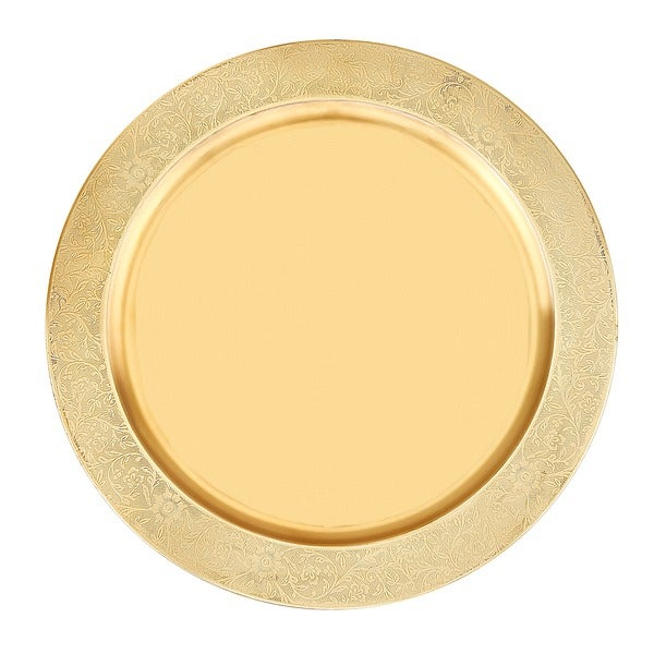 This Placesetting Is To Die Gold Charger Champagne: Shop Old Dutch 13-inch Décor Champagne Stainless Steel