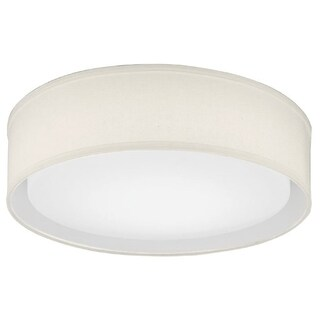 Lithonia Lighting FMABFL 16 20830 F21 M4 Aberdale 16 in. Tan Linen LED Flushmount- 3000K