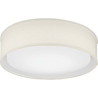 Lithonia Lighting FMABFL 16 20840 F21 M4 Aberdale 16 in. Tan Linen LED Flushmount- 4000K