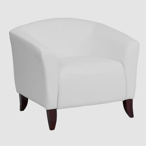 Allison Contemporary White Leather Guest Chair
