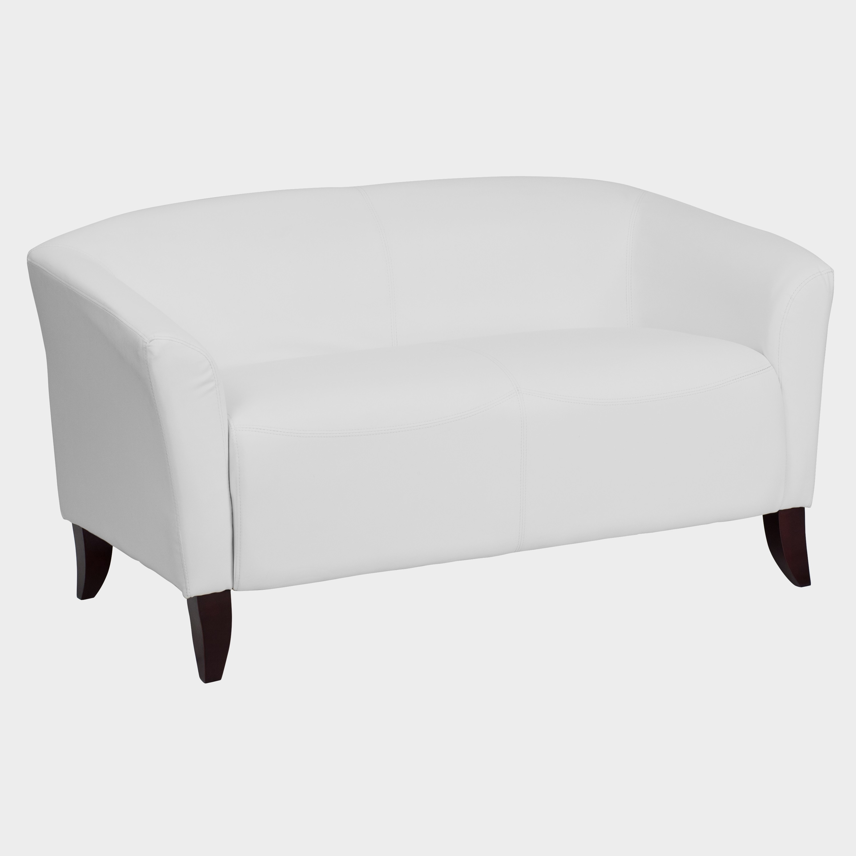 Fabulous Allison Contemporary White Leather Loveseat Andrewgaddart Wooden Chair Designs For Living Room Andrewgaddartcom