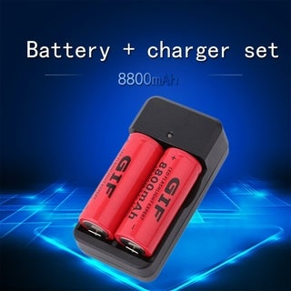 26650 3.7V 8800mAh Rechargeable Li-ion Battery + Charger