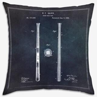 Oliver Gal 'Baseball Bat 1885' Decorative Throw Pillow