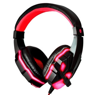 3.5mm Gaming Headset with Mic for PC (Red)