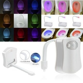 Bathroom Body Sensing Motion Sensor Automatic LED Toilet Night Light Lamp