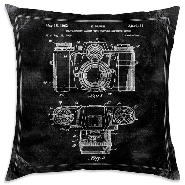 Oliver Gal 'Sauer Camera. 1962 - TOM' Decorative Throw Pillow