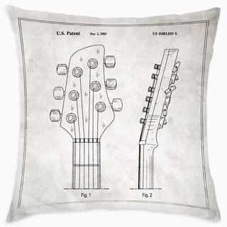 Oliver Gal 'Head Stock Of Guitar 2003'DecorativeThrow Pillow