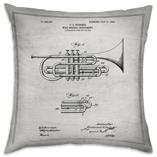 Oliver Gal 'Wind Musical Instrument 1906' Decorative Throw Pillow