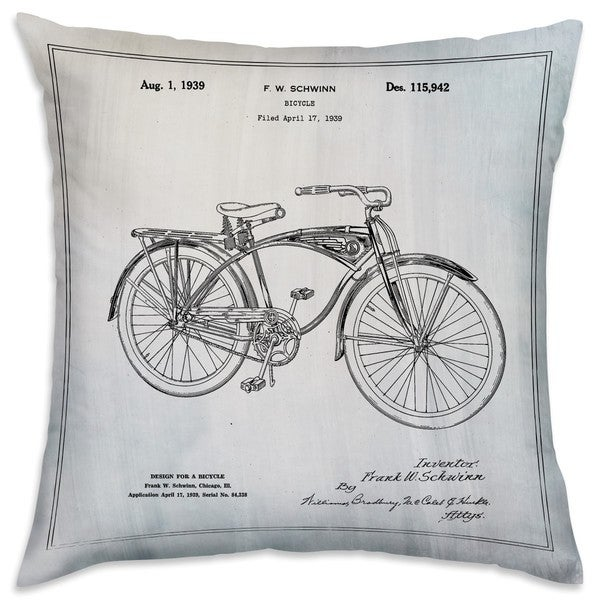 25e0607a8ec Shop Oliver Gal 'Schwinn Bicycle' Decorative Throw Pillow - On Sale - Free  Shipping Today - Overstock - 15640698
