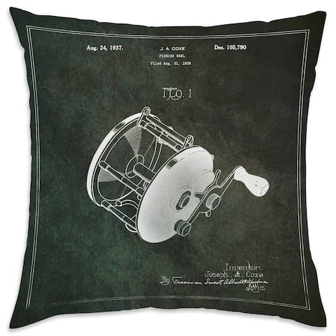 Oliver Gal 'Fishing Reel 1937'DecorativeThrow Pillow