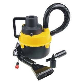 Portable Car Vacuum Cleaner Wet/Dry DC 12 Volt (Black/Yellow)