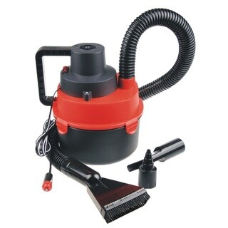 Portable Car Vacuum Cleaner Wet/Dry DC 12 Volt (Black/Red)