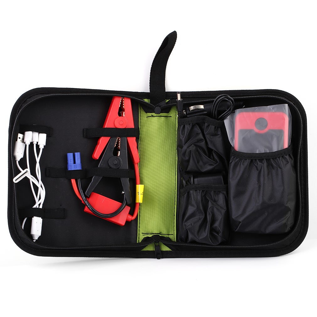 T66 12000mAh Portable Car Multifunctional Jump Starter Po...