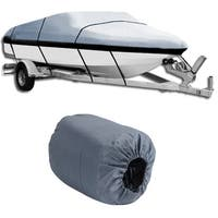 17-19 Ft Waterproof Heavy Duty Boat Cover (Grey)