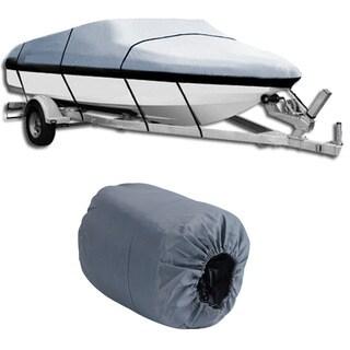 17-19 Ft Waterproof Heavy Duty Boat Cover (Grey)