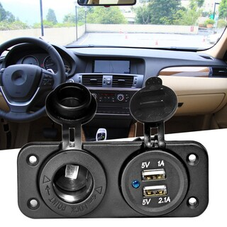 Dual USB Car Cigarette Lighter Socket 12V for Car
