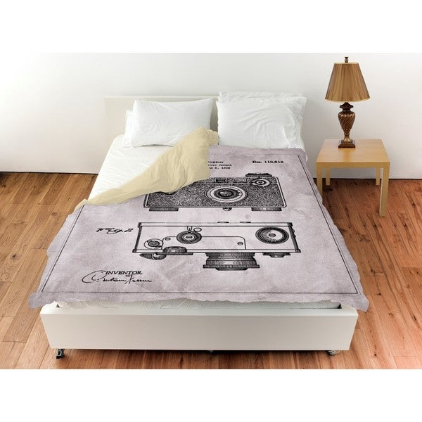 Oliver Gal 'Fassin Camera, 1938 - Gray' Duvet Cover