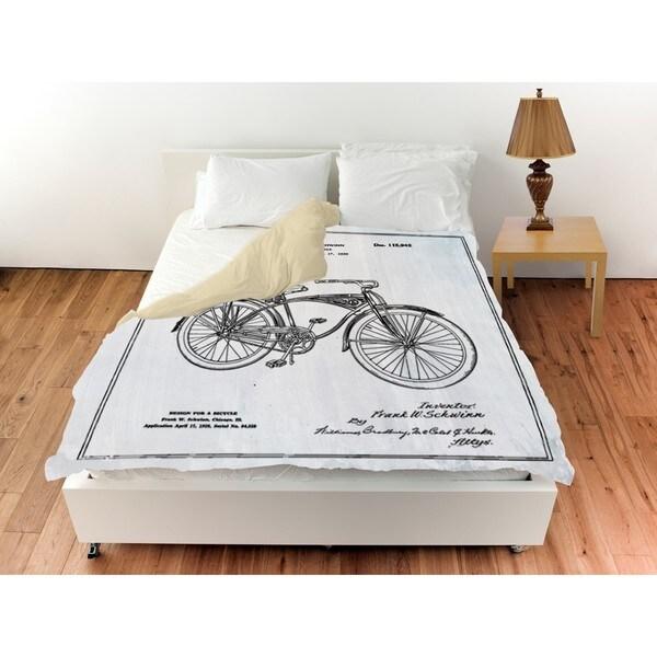 Oliver Gal 'Schwinn Bicycle' Duvet Cover