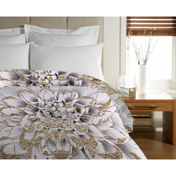 Oliver Gal 'Floralia Blanc' Duvet Cover