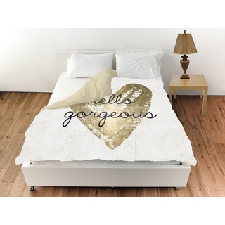 Oliver Gal 'Gorgeous Salute White' Duvet Cover