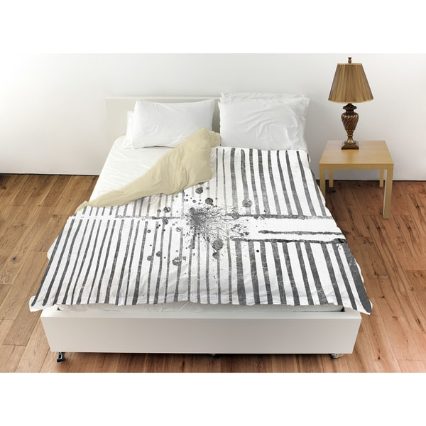 Oliver Gal 'Love Force Field Silver' Duvet Cover